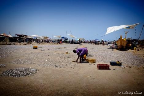 fisherwomen working