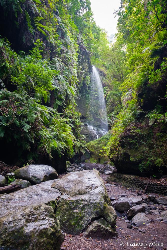 Beautiful waterfall Los Tilos