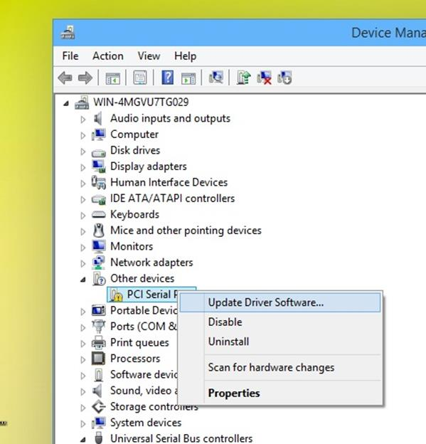 Device manager - update drives software - Installing and updating hardware drivers in Windows 10
