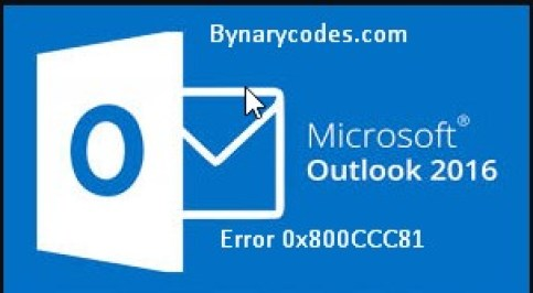 Outlook email sending reported unknown error0x800CCC81