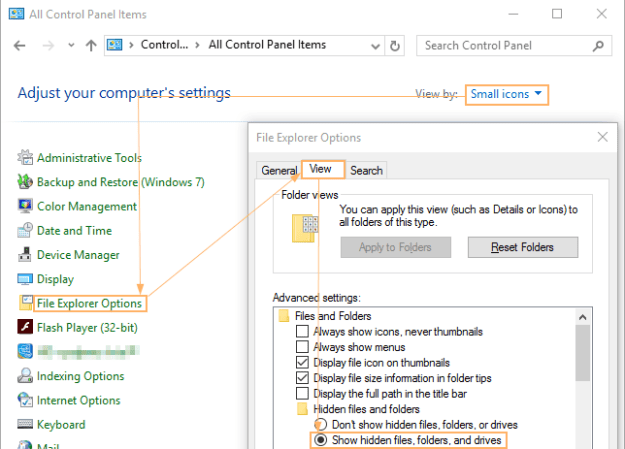 hidden files Outlook email sending reported unknown error0x800CCC81