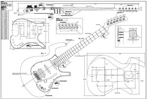 Guitar Plans  Guitar bodies and kits from BYOGuitar