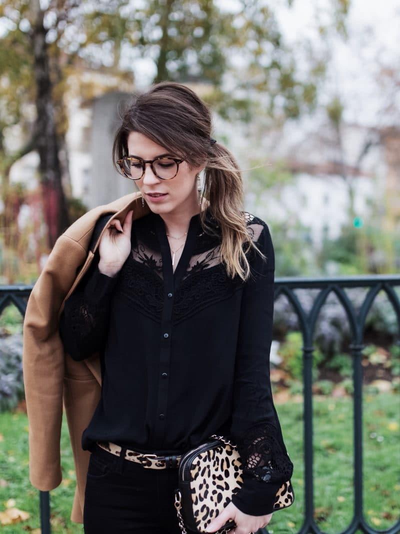 léopard manteau camel