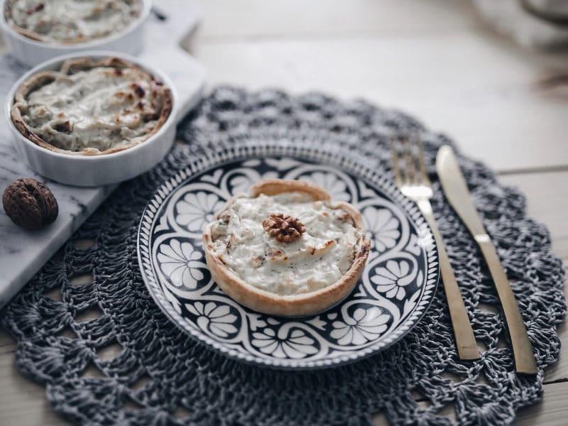 recette végétarienne tarte fenouil, fromage et noix profil