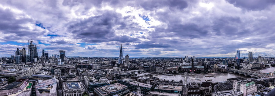 City guide Londres blog voyage By Opaline panorama La City
