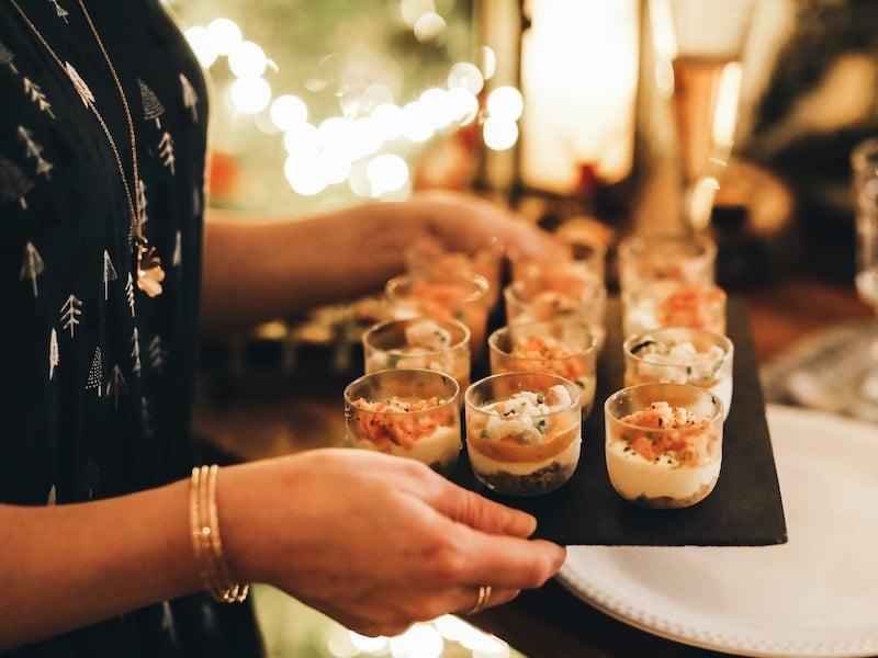 Repas de noël entre amies avec Toupargel blog lifestyle Lyon By Opaline verrines de la mer