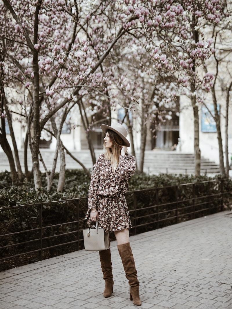 Look femme robe fleurie American Vintage blog mode France Lyon By Opaline