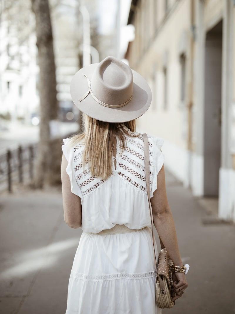 Look femme bohème printemps robe Ba&sh Zenna dos blog mode Lyon France By Opaline