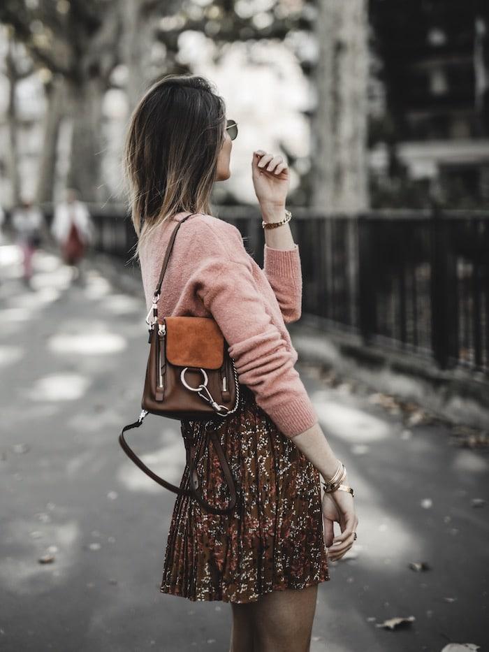 Inspiration look femme 2019 sac à dos Chloé faye backpack blog mode Lyon paris France By Opaline