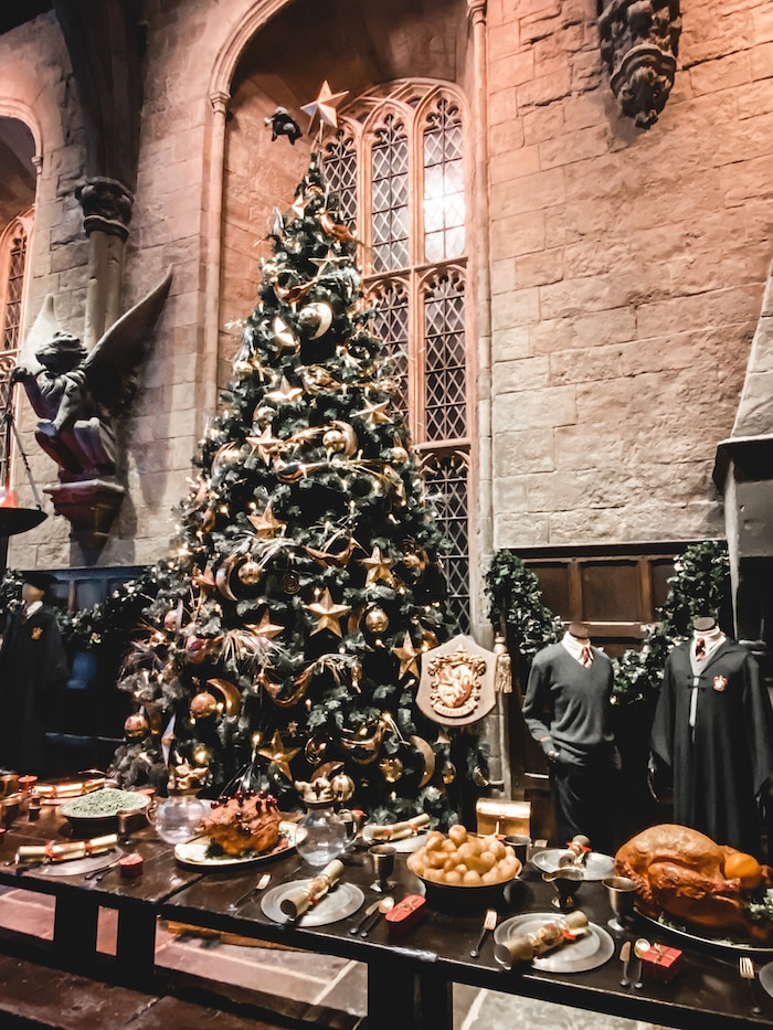 Londres fêtes noël nouvel an sapin Harry Potter Studio Tour