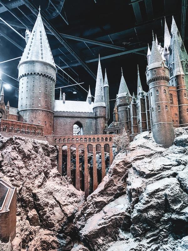 Studio Tour Harry Potter Londres Hogwarts in the snow Noël