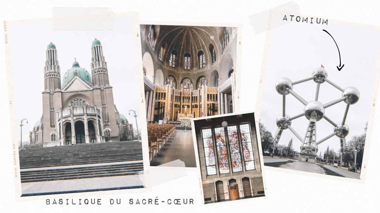 Voyage week end Bruxelles basilique Sacré Cœur et Atomium