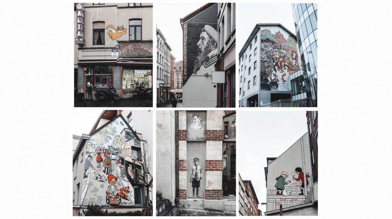 Voyage Bruxelles quartier Marolles et street art BD belge