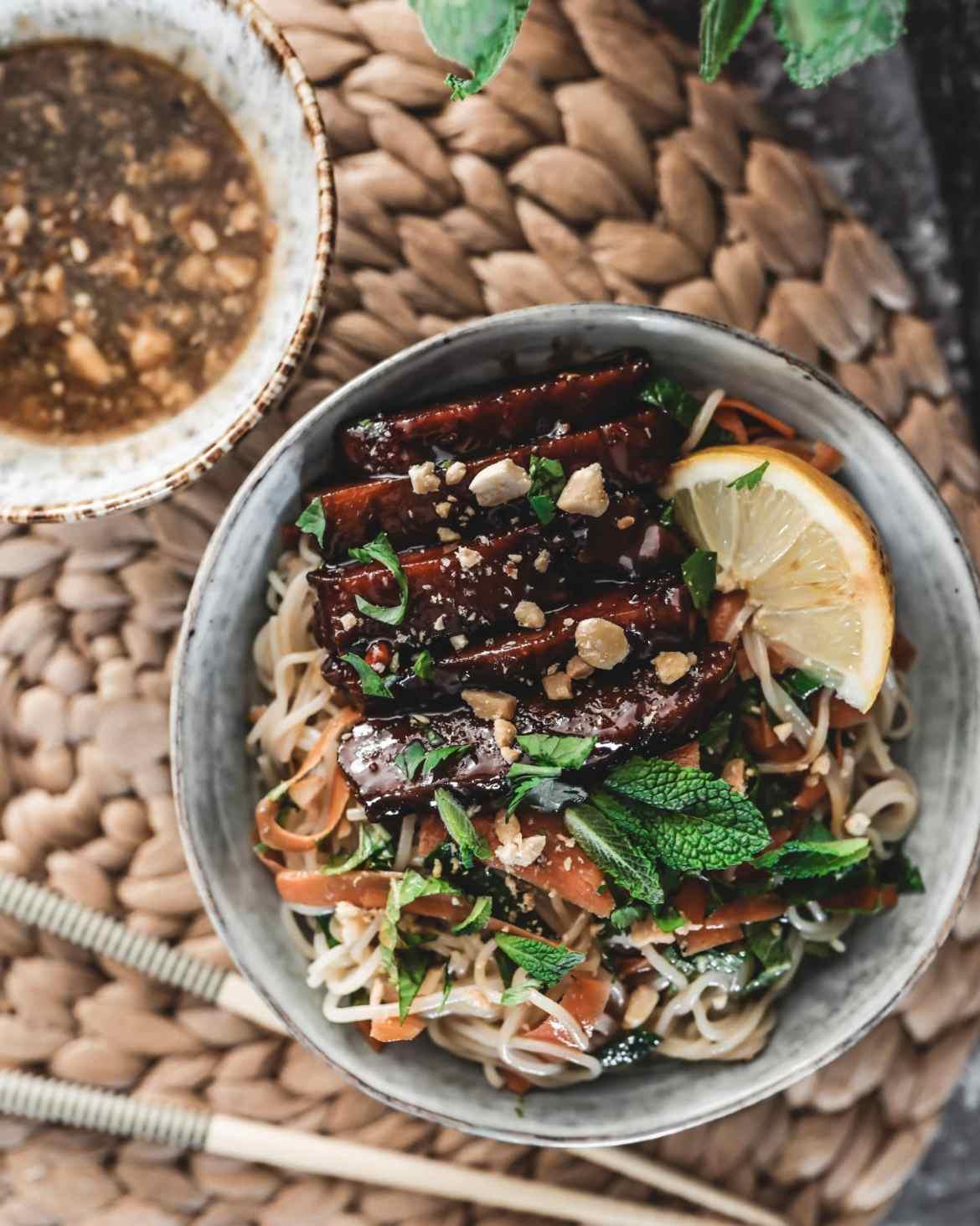 Recette salade asiatique vegan façon bo bun
