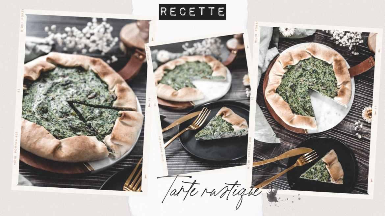 Recette tarte rustique pomme de terre épinards ricotta et champignons
