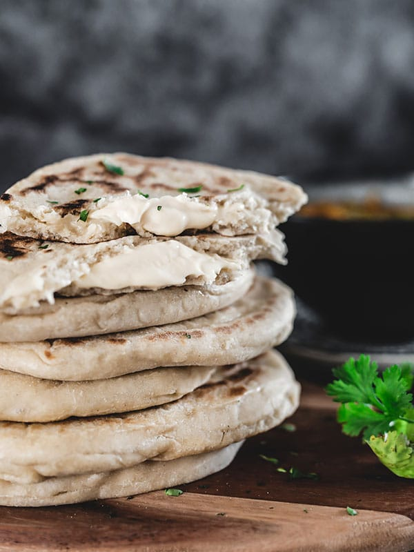 Recette cheese naan pains indien au fromage, pâte vegan