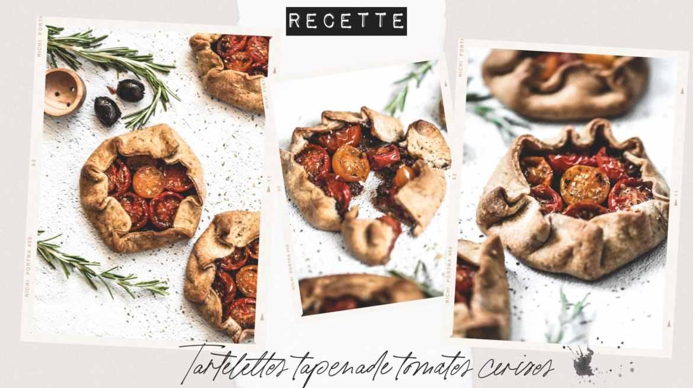 Recette vegan tartelettes tapenade tomates cerises et origan