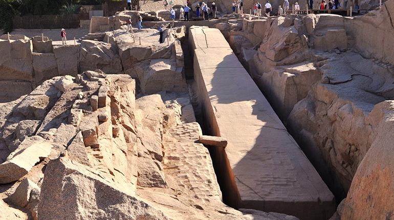 Unfinished Obelisk 'Historic landmark in Aswan, Egypt'