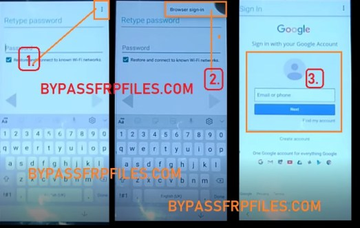 browser sign in Xiaomi FRP Bypass Unlock