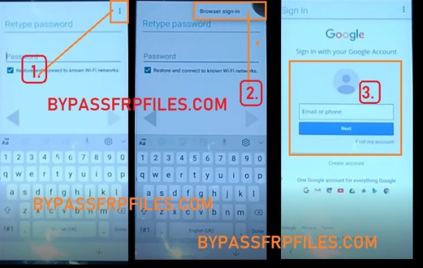 browser sign in to Xiaomi Redmi Alcatel All Android FRP Bypass - Unlock Google Account