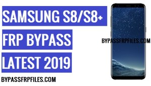 Bypass FRP Samsung S8 Plus