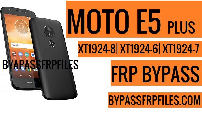 Bypass Google Account Moto E5 Plus
