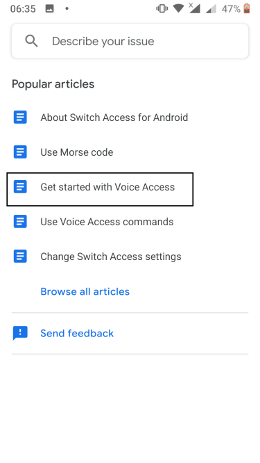 Get started with voice access