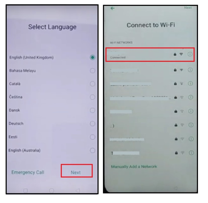 Connect to wifi to Realme/ oppo FRP bypass - Unlock