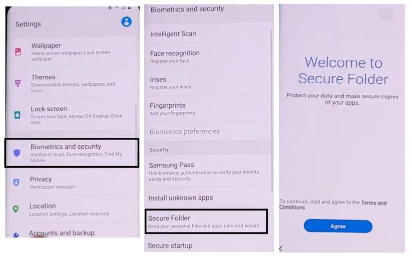 enable Secure Folder