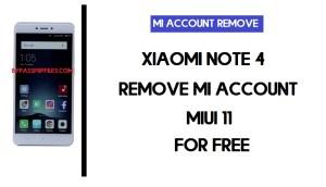 Redmi Note 4 Mi Account Remove (MIUI 11) For Free