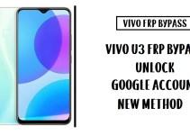 Vivo U3 FRP Bypass (Unlock Google Account) Android 9