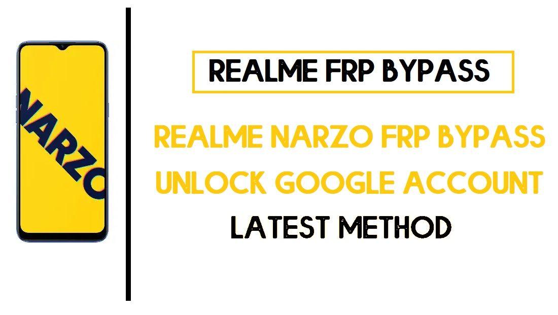 Realme Narzo FRP Bypass (Google Account Unlock) FRP Code