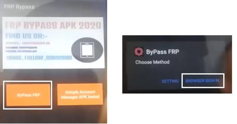 click browser sign in to Mobicel FRP Bypass unlock