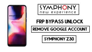 Symphony Z30 FRP bypass | Unlock Google Without PC 2020