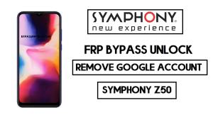 Symphony Z50 FRP bypass | Unlock Google Without PC 2020