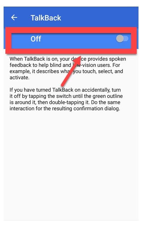 Talkback Off