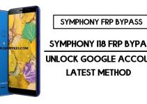 Symphony i18 FRP Bypass | Unlock Google Account Without PC – Android 9 (2020)