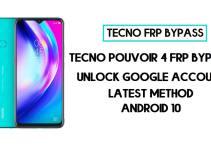 Tecno Pouvoir 4 frp bypass | How to unlock tecno LC7 google account