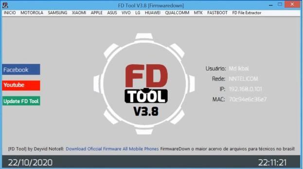 FD Tool v3.8 opened