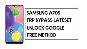 Samsung A70s FRP Bypass | How to Unlock SM-A707 Google Account – Without PC (Android 10)