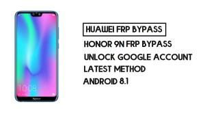 Honor 9N FRP Bypass -Unlock Google Account–(Without PC) New Method