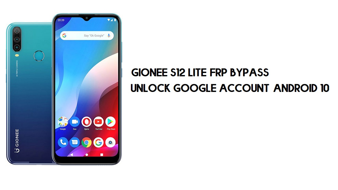 Gionee S12 Lite FRP Bypass | Unlock Google Account–Android 10 (2021)