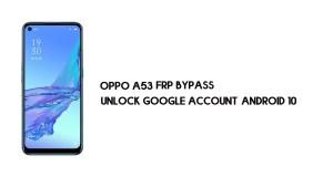 Oppo A53 FRP Bypass (Google Account Unlock) Emergency Code