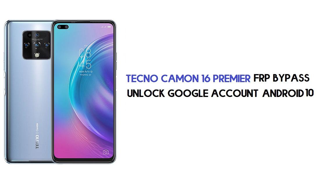 Tecno Camon 16 Premier FRP Bypass | Unlock Google –Android 10 (Free)