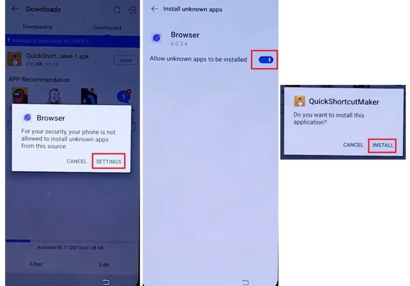 Install Quick Shortcut Maker Apk