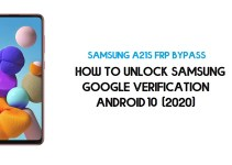 Unlock FRP Samsung A21s | How to Bypass Samsung SM-A217F/M Google Verification – Android 10 (2020)