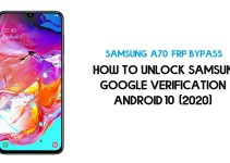 Unlock FRP Samsung A70 | How to Bypass Google Verification – Android 10 (2020)