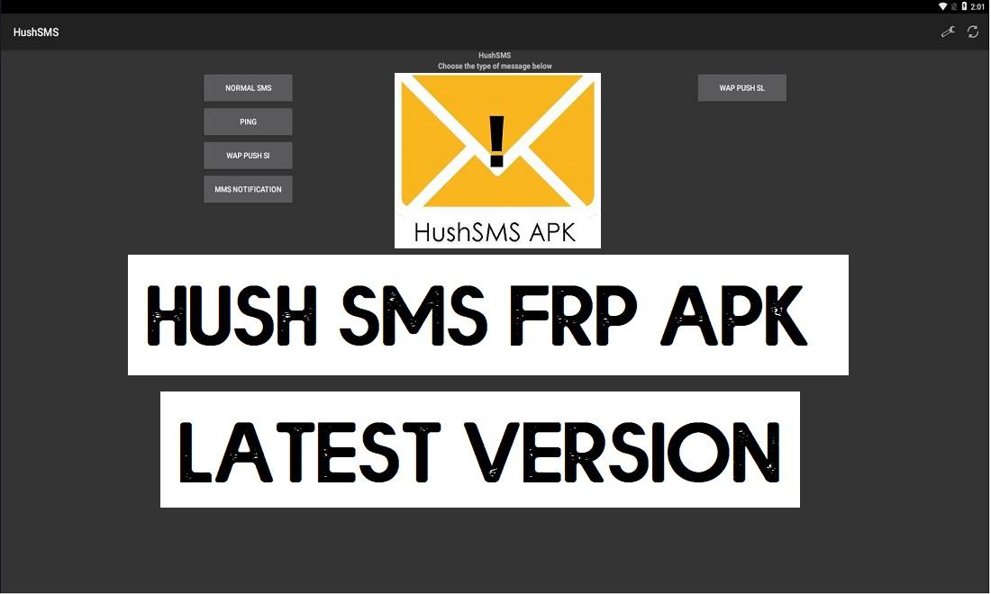 Download HushSMS APK latest 2021 - Free FRP SMS Apk