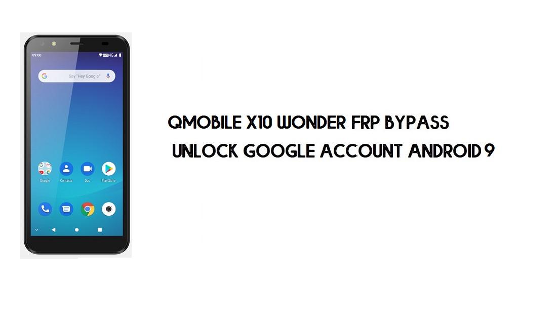 Qmobile X10 Wonder FRP Bypass | Unlock Google Account – Android 9