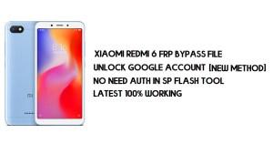 Xiaomi Redmi 6 FRP File (Unlock Google) No Need Auth [MIUI 12] -2021